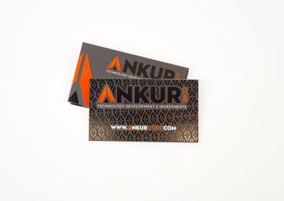 Ankur Spot UV Business Card