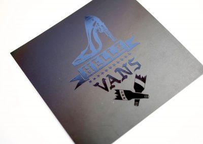 Hellz Vans Square Business Card
