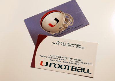 U Football Business Card