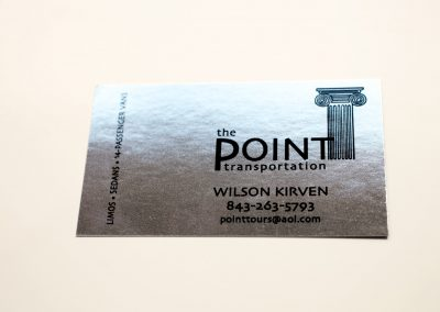 The Point Foil Business Card