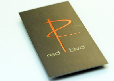 Red Blvd Red Foil Business Card