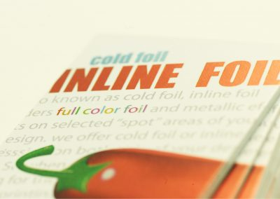 Cold Foil Inline Foil Business Card