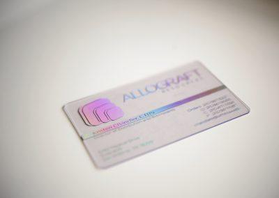 Allograft Transparent Business Card