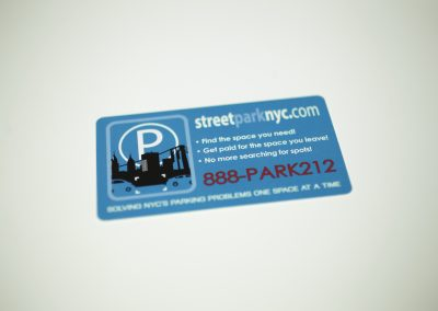 Street Park NYC Business Card