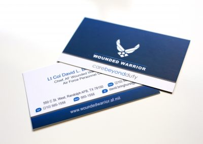 Wounded Warrior Business Card