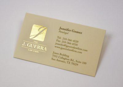 J Guerra Gold Foil Business Card