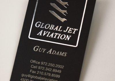 Global Jet Aviation Silver Foil Business Card