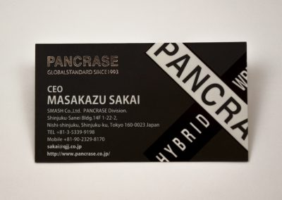 Pancrase Foil and Spot UV Business Card