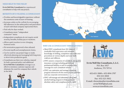 Ervin Well Site Consultant Brochure