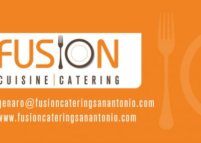 Fusion Cuisine Business Card