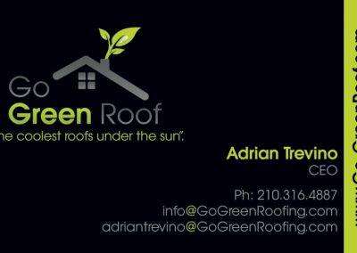 Go Green Roof Business Cards