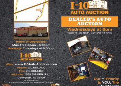 I-10 Auto Auction Half Fold Booklet