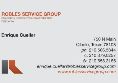 Robles Service Group Business Card Front