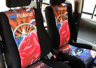 dye sublimation car seats