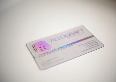 allograft plastic business card