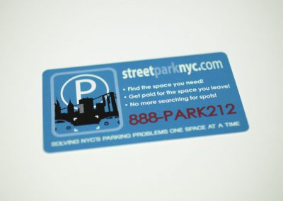 street park nyc rectangle card