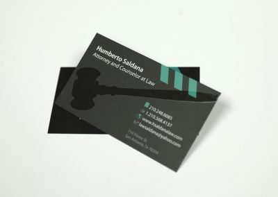 attorney spot uv business card