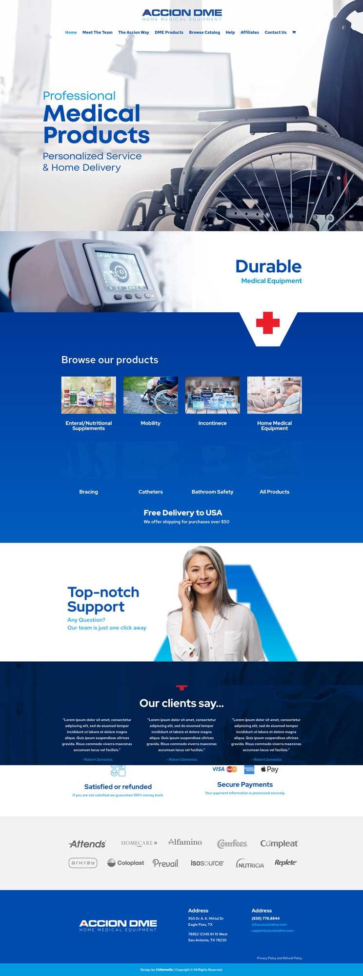 accion dme homepage webpage