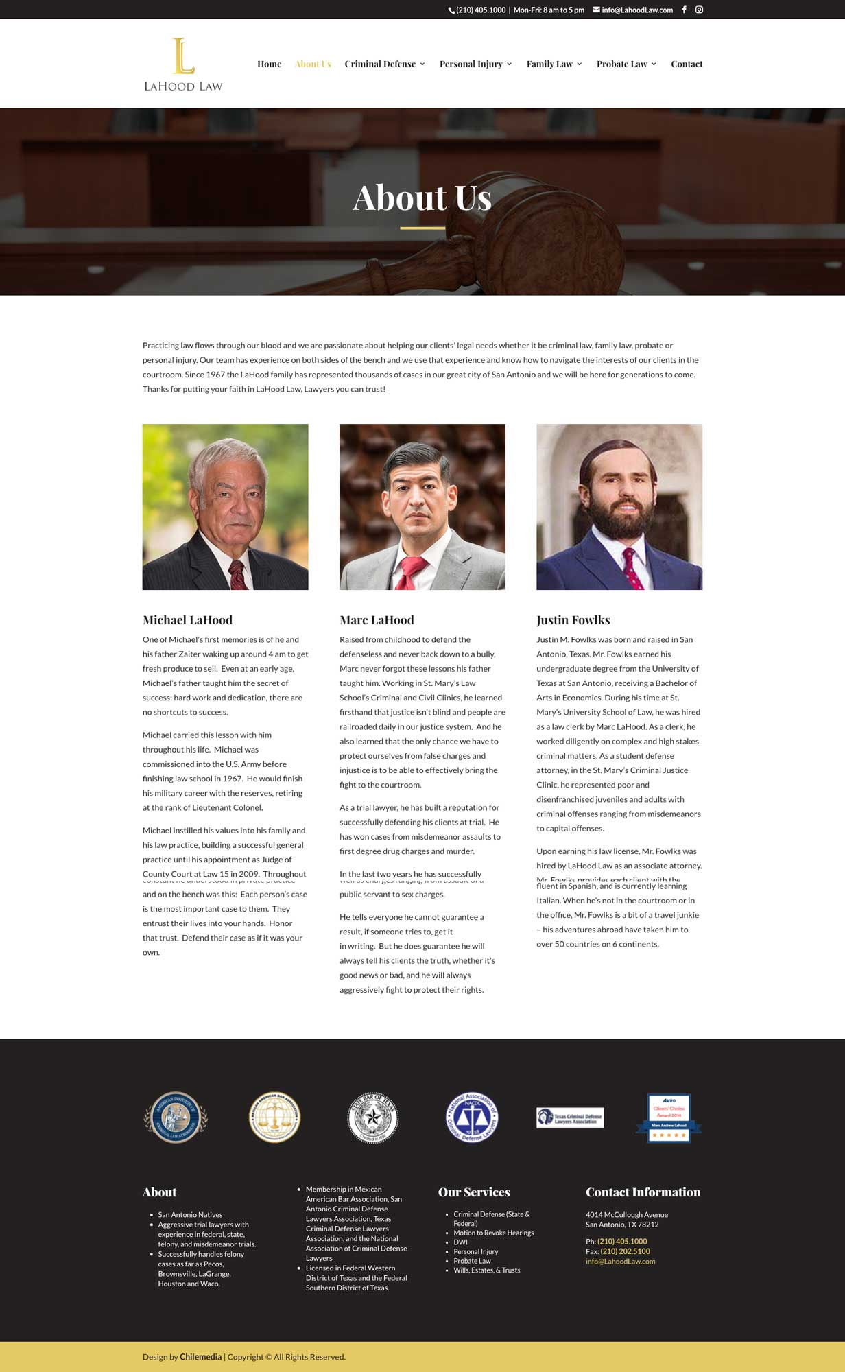 lahood law about us webpage