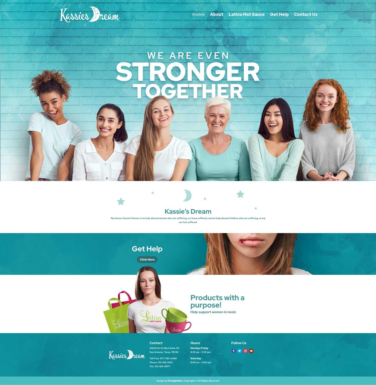 kassies-dream-homepage-design