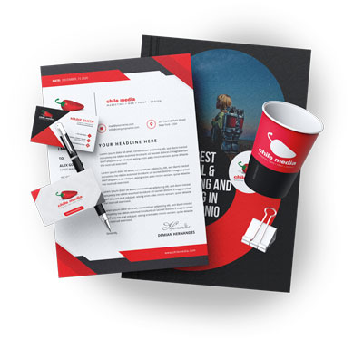 digital-print products business cards cups letterhead